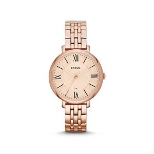 Fossil Jacqueline 3 Hand Rose Gold Link Watch